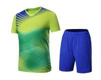 Badminton shirt,ping pong jersey table tennis T Shirt tennis competition training Costume gradual change Men sportwear tracksuit