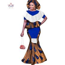 2019 traditional african clothing dresses for women 6xl Fashion Design  bazin riche o-neck long dress plus size regular WY1683 0b056d79137f