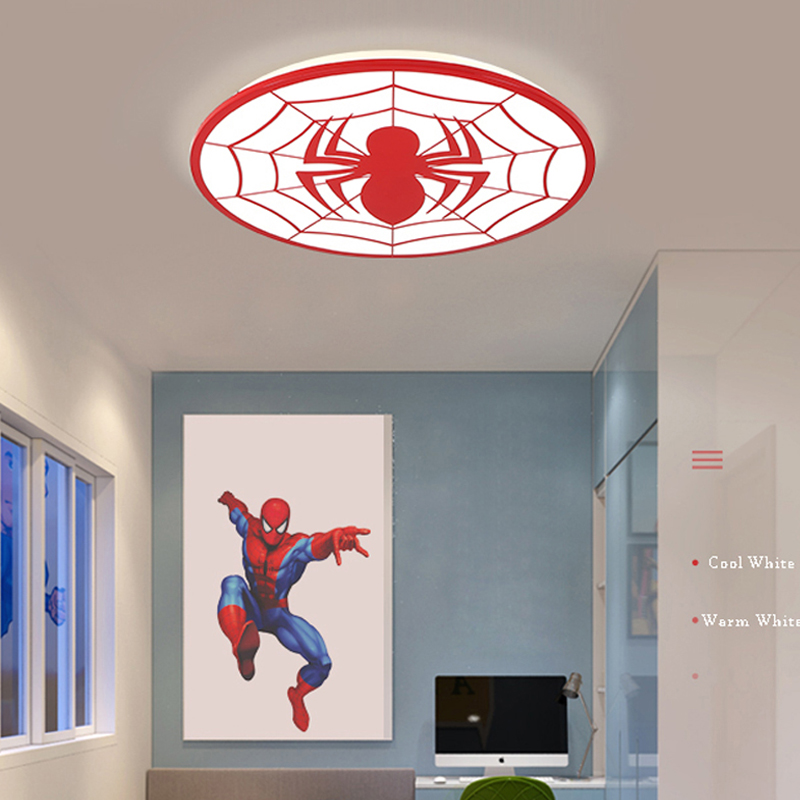 Image 4 - Kids Room Light Spiderman Ceiling Lights Modern LED Ceiling Light With Remote Control For Baby Room Deco Enfant Chambre Lamp-in Ceiling Lights from Lights & Lighting