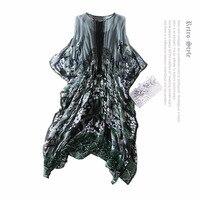 Genuine 100 Silk Top Quality Dress New 2018 Spring Brand Runway Women Summer Dress