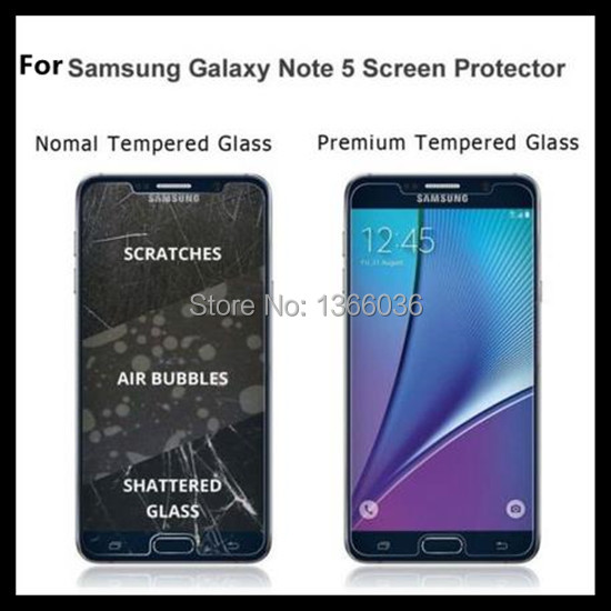 US $98 0 |200pcs For Samsung Note 5 Tempered Glass 9H 0 3mm Explosion Proof  Screen Protector 5 7