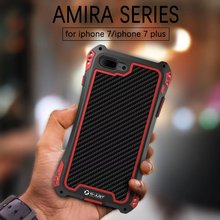 R-JUST i7 amria серии металла алюминиевая углеродного firber чехол для телефона iPhone 7 7 Plus противоударный защитный чехол Стенд Shell кожи