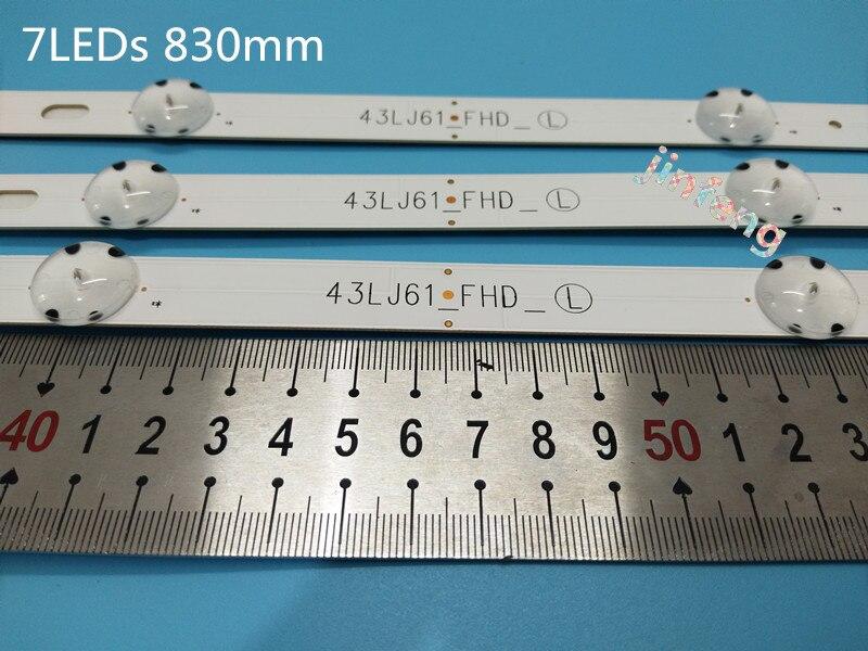 New4set 12PCS 7LEDs 830mm LED backlight strip for LG TV 43UJ634V 43LJ61 FHD L LC43490059A LC43490058A