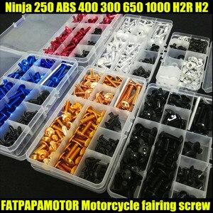 Универсальный мотоцикл обтекатель болты винт мото Пружинные болты для KAWASAKI Ninja 250 ABS R 400 R 300 650 1000 H2R H2