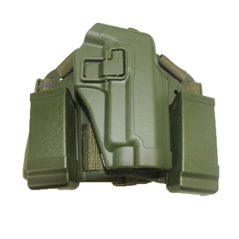 TACTICAL DROP LEG THIGH RIGHT-HAND HOLSTER WITH 2 POUCHES FOR SIG SAUER P226 229