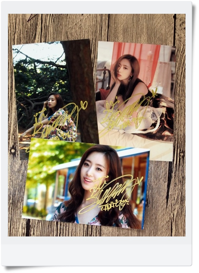 T-ARA TARA Ham Eun Jung  Autographed Photo Whats my name 3 photos set 4*6 free shipping  062017