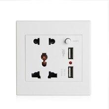 2.1a двойная розетка USB Зарядное устройство AC/DC Адаптеры питания розетка Панель W/переключатель