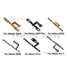 100% New Volume Switch On Off Button Key Power Flex Cable For Meizu M4 M5 M6 M7 Pro Plus U10 U20