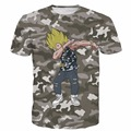 Men Women Dragon Ball Z Super Saiyan t shirts Hip Hop Camo Tees Tops Male Anime Vegeta/Goku 3D t shirt Harajuku Tee Shirts
