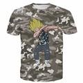 Men Women Dragon Ball Z Super Saiyan t shirts Hip Hop Camo Tees Tops Male Anime Vegeta/Goku 3D t shirt Harajuku Tee Shirts