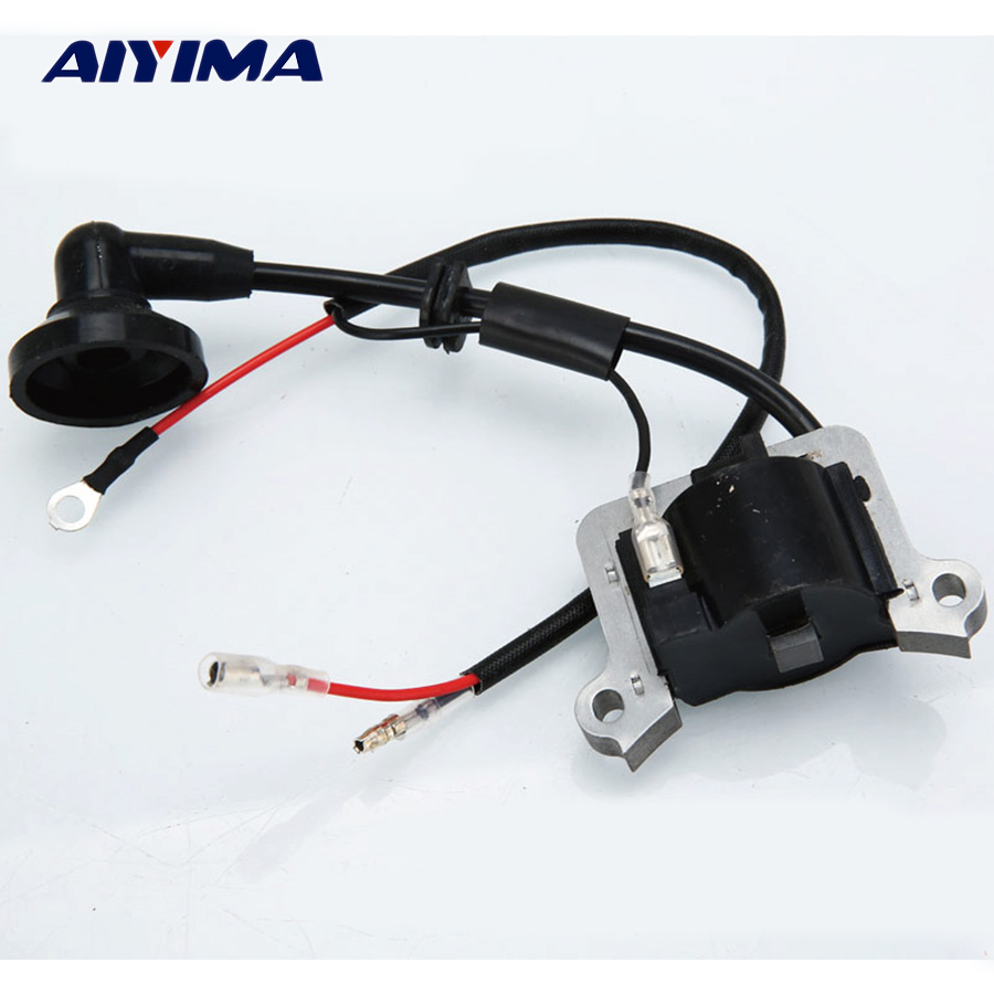 1pc chainsaw ignition coil two-stroke 40-5/430/520 parts trimmer chainsaw spares chainsaw piston assy with rings needle bearing fit partner 350 craftsman poulan sm4018 220 260 pp220 husqvarna replacement parts