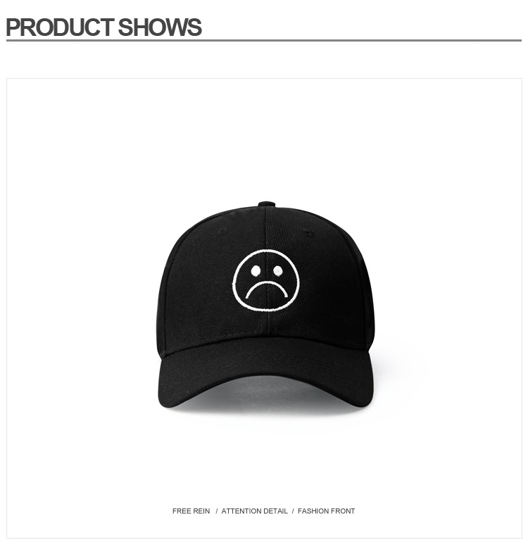 Sad Boys dad hat Adjustable cotton Harajuku Skateboard Hats crying face