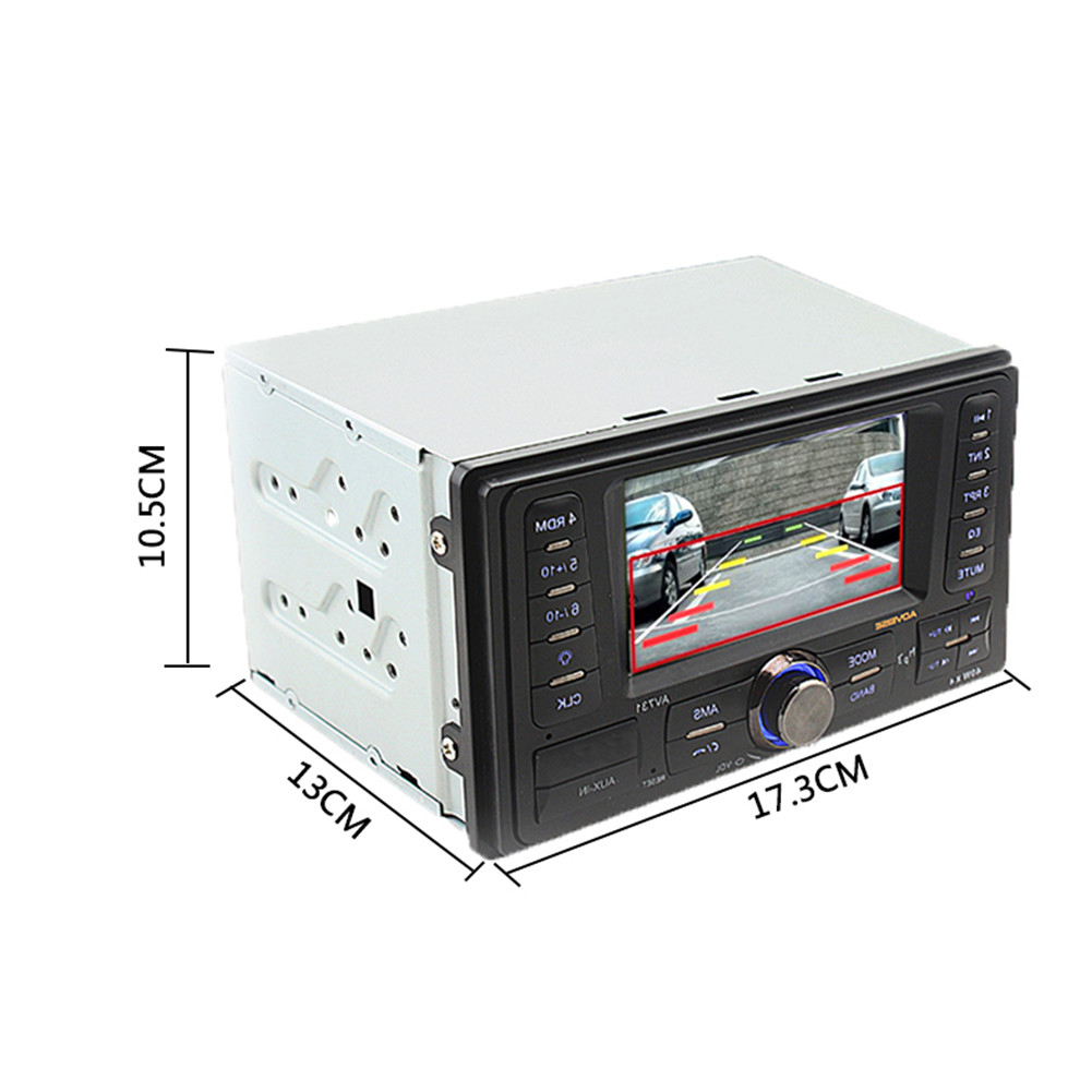 HOT 2 Din Car Radio MP5 Player Stereo Radio FM/MP3/MP4/Audio/Video/USB In Dash Radio Player Support Rear View Camera Function