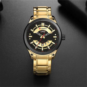 Image 4 - CURREN Watches Mens Stainless Steel Quartz Wristwatch With Calendar Casual Business Male Clock 30M Waterproof Relogio Masculino