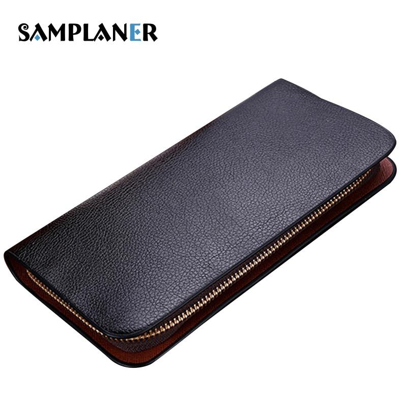 Samplaner Brand Men Long Wallets 2017 PU Leather Male Clutch Bag Large Capacity Black Wallet Card Holder Phone Pocket Purse Man