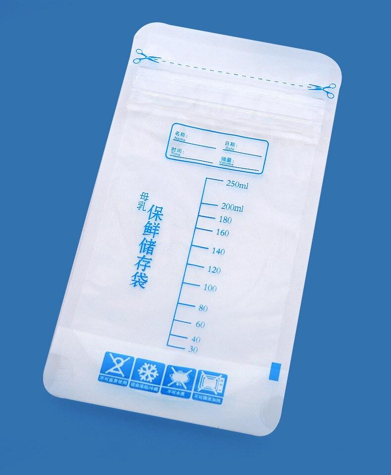 30 buah / tas Tas penyimpanan ASI Tas Penyimpanan Makanan Bayi 250ml - Kehamilan dan bersalin - Foto 2