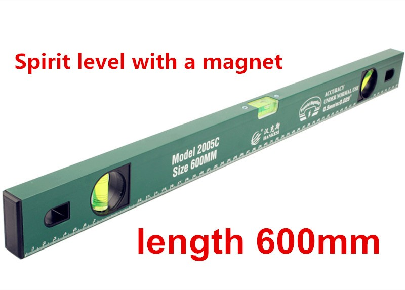 400mm Magnet Hohe Präzision Wasserwaage Magnetische Bubble Lineal Wasserwaage