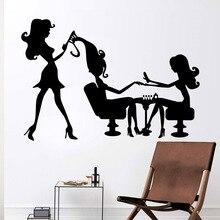 Modern beauty salon Vinyl Wall Stickers Decor For Bedroom Decoration Removable Art Decal wallsticker wallpaper