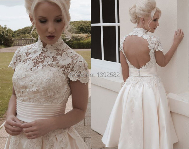 Vintage Lace Wedding Dresses with Pockets
