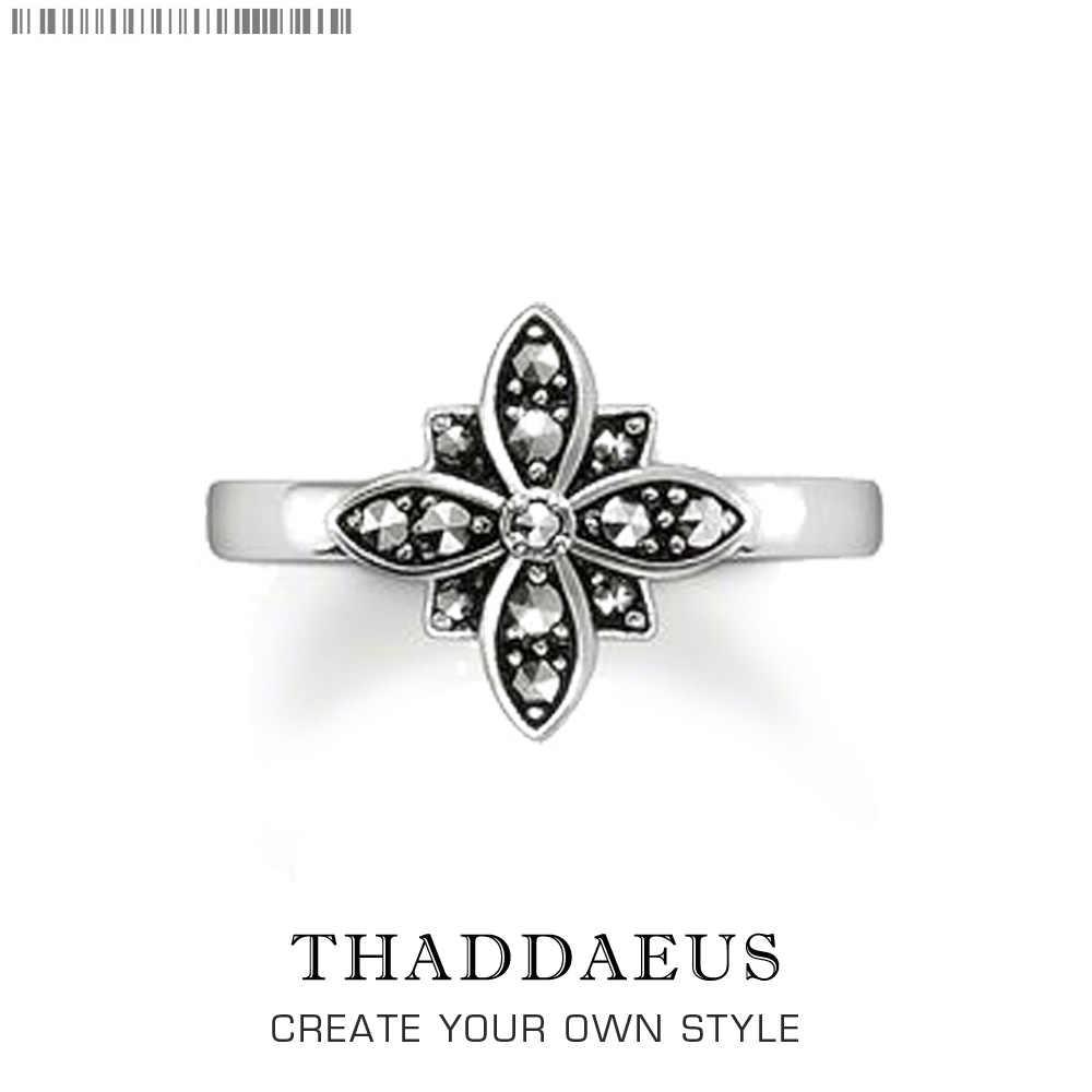 Marcasite แหวน, Thomas สไตล์ Glam แฟชั่นดีเครื่องประดับสำหรับบุรุษและสตรี, 2017 Ts ของขวัญ 925 เงินสเตอร์ลิง, Super Deals