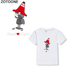ZOTOONE Cute Girl Cartoon Alphabet Patches iron sticker for clothing T-shirt Applique  on transfer diy patchHot stamping D