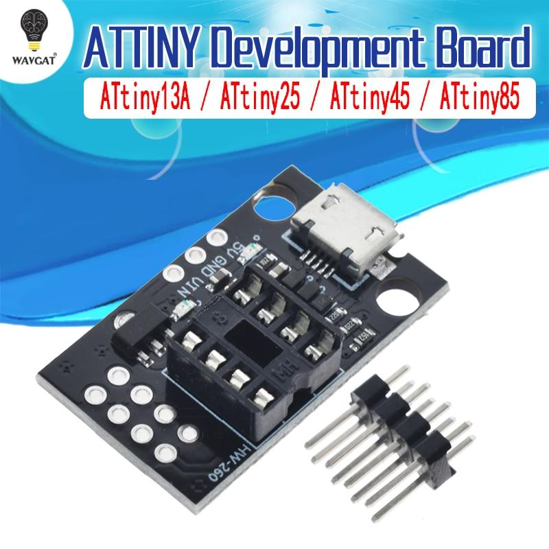 ATtiny13A / ATtiny25 / ATtiny45 / ATtiny85 Pluggable ATTINY Development Programming Bare Board