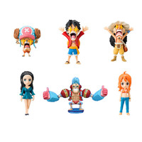 6Pcs Set One Piece Luffy Chopper Usopp Robin Nami Franky Pvc Action Figure 7Cm Japan Bandai