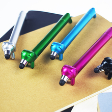 5PCS Creative Lovely Dog Shape Ballpoint Pen Plastic Signature Stationery Office School Supply Mobile Phone Touch Screen