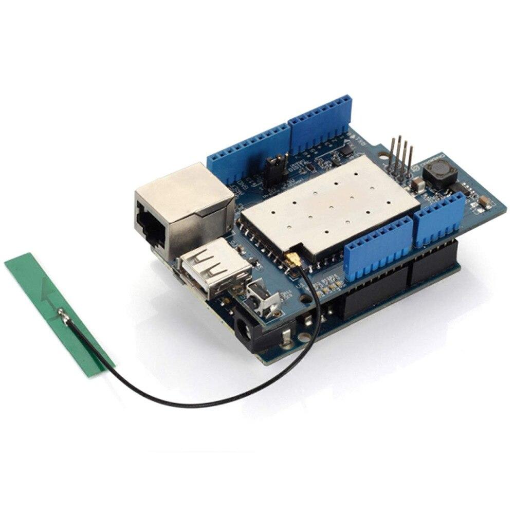 Dragino Linux, Wifi, Ethernet, USB, All-in-one Yun Shield per Arduino Leonardo, UNO, Mega2560, Duemilanove