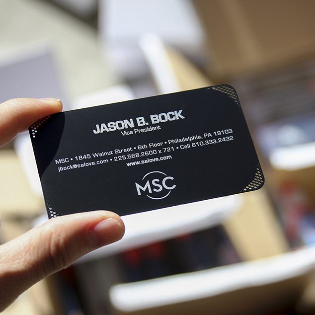 Personalized holed punching quality stainless steel business metal card