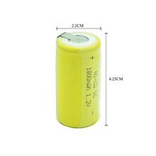 SkoTeRy Free Shipping 5pcs battery SC rechargeable replacement 1.2 v with tab 1800 mah