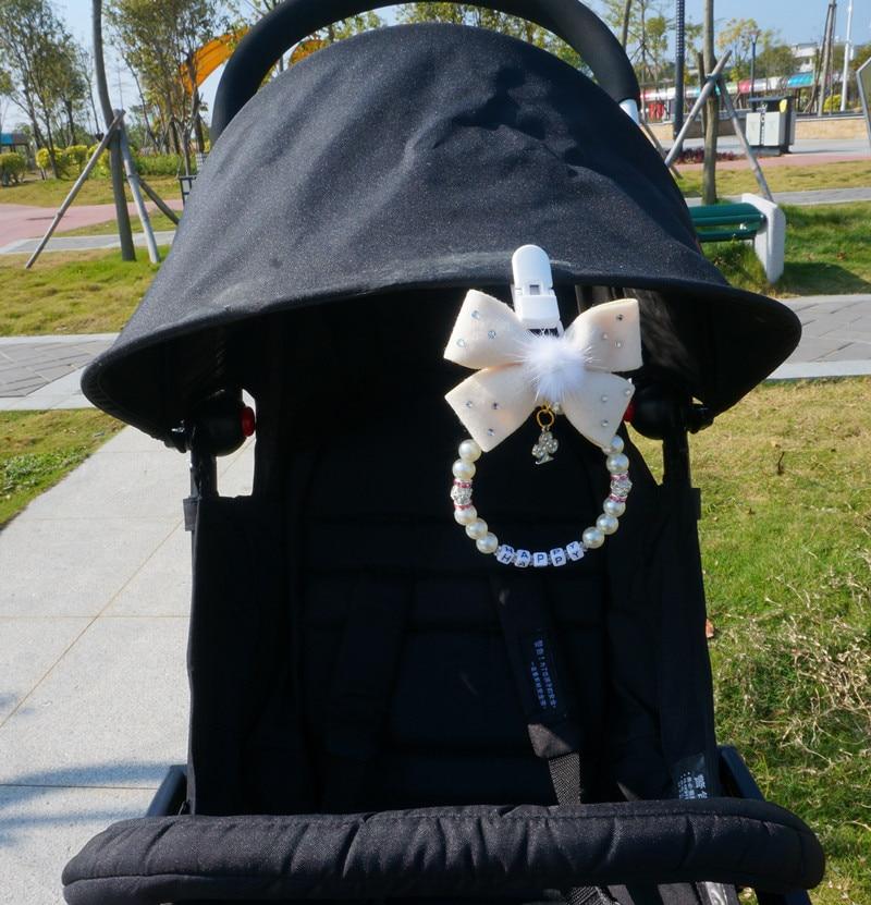 Personalised stunning pram charm in black for baby girls boys ideal gift