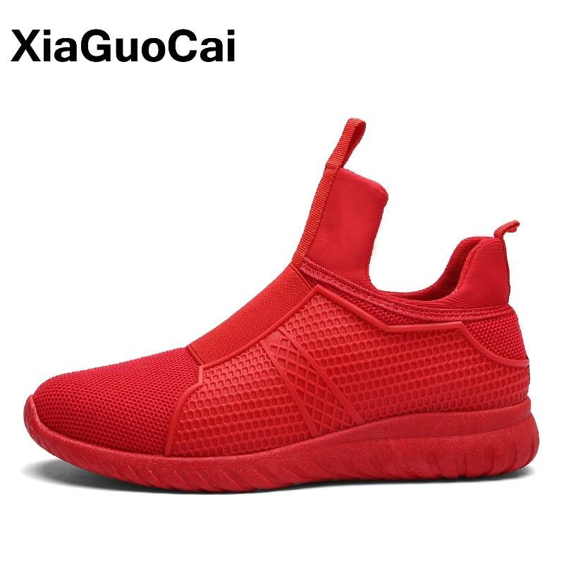 Malla Weave Fly Red Top Otoño Para 2018 Primavera Zapatos Slip Alto Rojo on Respirables Zapatillas Liquidación Ocasionales Hombres Tq0xC6w8