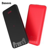 Baseus 10000mAh Qi Wireless Charger Power Bank For iPhone Samsung LCD Dual USB External Battery Pack Wireless Powerbank Charger