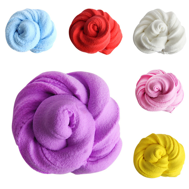 Wholesale 3D Fluffy Floam Slime toy for kids children Stress Relief No Borax 2018 Funny DIY Cotton Slime Clay Education Mud Toy