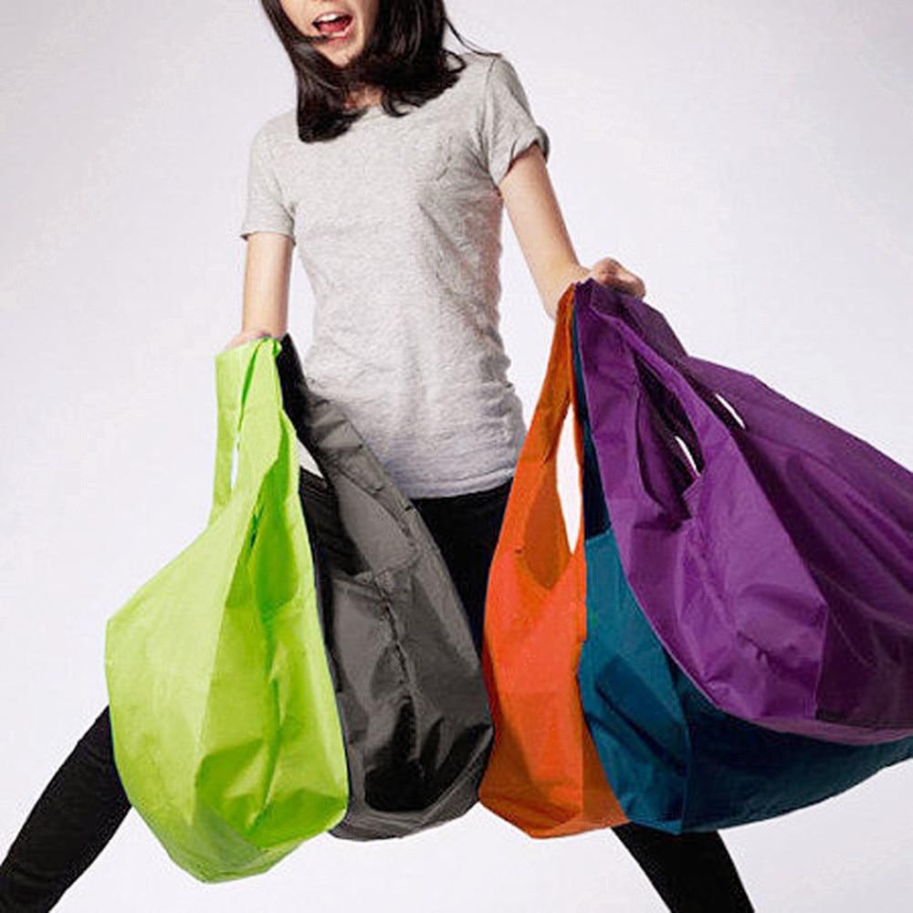 1PCS Eco Shopping Storage Bag Foldable Reusable Vegetable Storage Bags For Supermarket Portable Pocket Shopping Storage Bag