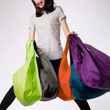 1PCS Eco Shopping Storage Bag Foldable Reusable Vegetable Bags For Supermarket Portable Pocket