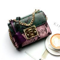 Snake Bag Genuine Leather Women 2019 Designer Handbags High Quality Fashion Luxury Chain Bags for Single Shoulder Ladies Brand