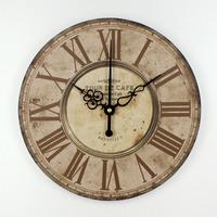 home decor absolutely mute quartz wall   clock   retro roman numerals large living room wall decorations watches orologi da parete