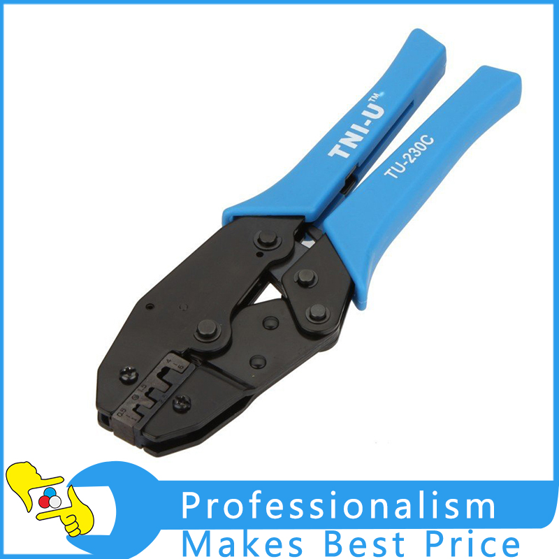 TU-230PA Locking Ratchet Crimping Press Pliers Crimper Clamps Tools for BNC Connector Hot Sale pz0 5 16 0 5 16mm2 crimping tool bootlace ferrule crimper and 1k 12 awg en4012 bare bootlace wire ferrules