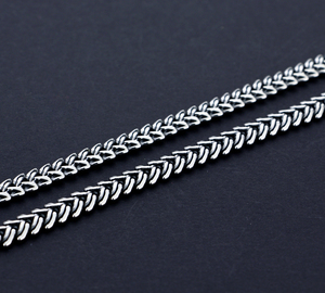 Image 2 - Mens 925 Thai Silver Necklaces Vintage Style Snake Chain Design 66cm Size Solid Silver Jewelry Party Accessories Birthday Gift
