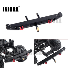 INJORA Metal Rear Bumper with LED Light for 1:10 RC Crawler Car Axial SCX10 90046 90047