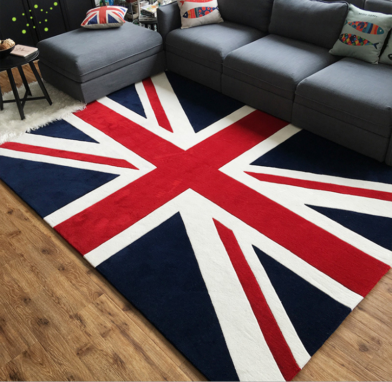 Aliexpress Com Buy 3d Embossed Union Jack Flag Rug