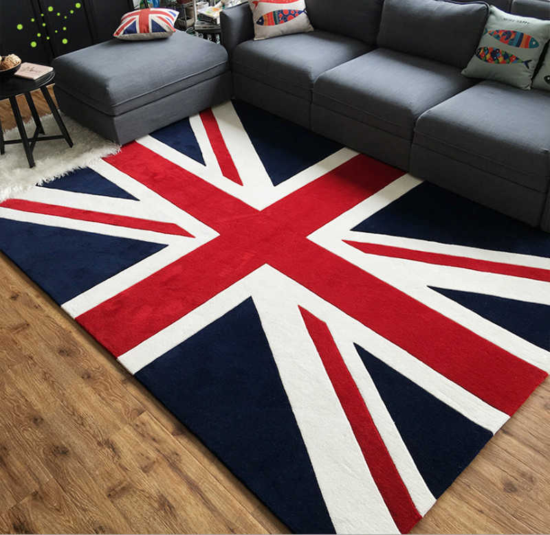 Embossed Union Jack Flag Rug British