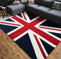 3D Embossed Union Jack Flag Rug British Flag Decorative Rugs Carpet High Fashion Livingroom Carpet Floor Mat Handmade