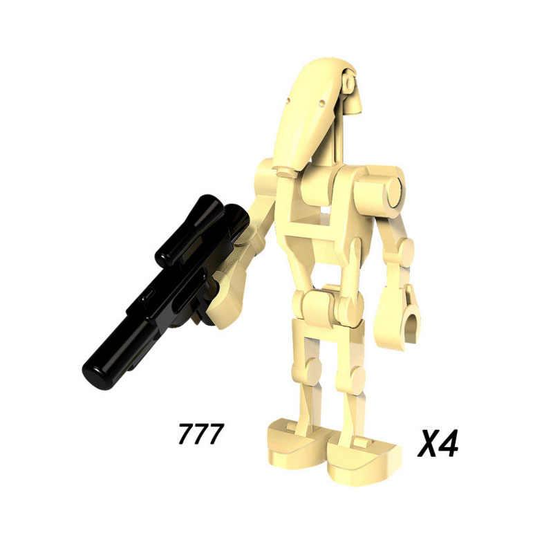 Single Sale Super Heroes Star Wars 777 stormtroopers Battle Droid Building Block Figure Brick Toy gift Compatible Legoed Ninjaed