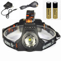 2500lm Zoom XM-L T6 LED Headlamp Flashlight Headlight Bicycle Head light lamp linterna frontal + 2x18650 battery  USB Charger