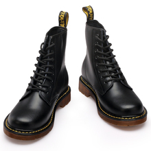 2016 Fashion Winter Genuine Leather Dr Martin Chelsea font b Boots b font With Fur Casual
