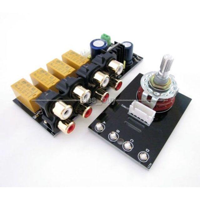 4 Selector de señal de Entrada de Audio del Canal de Relais del Tablero/tablero del amplificador de Señal de conmutación