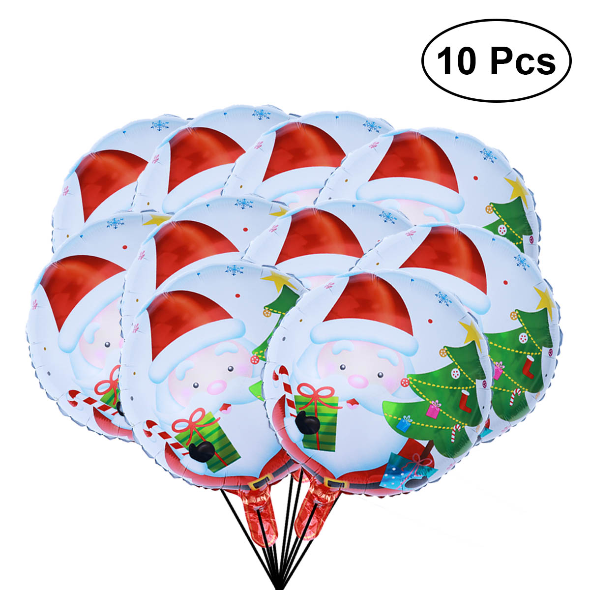 10pcs 18inch Balloons Reuseable Christmas Aluminum Foil Lovely Creative Latex Balloons for Decorating Christmas Party